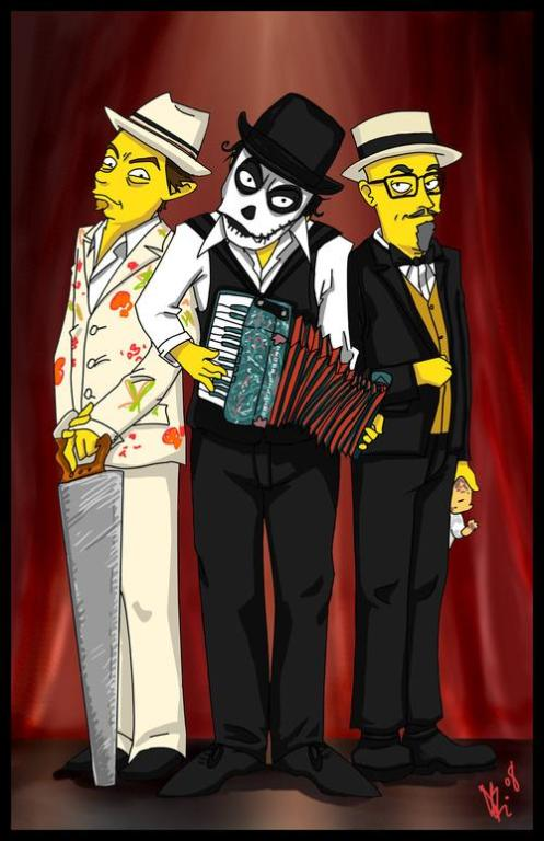 The+Tiger+Lillies+Simpsons_Style_by_Elusive_Ange